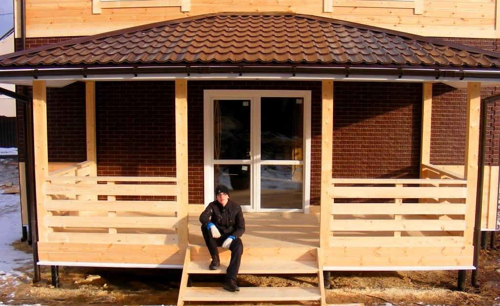 Построить закрытая веранда к дому фото своими руками 27